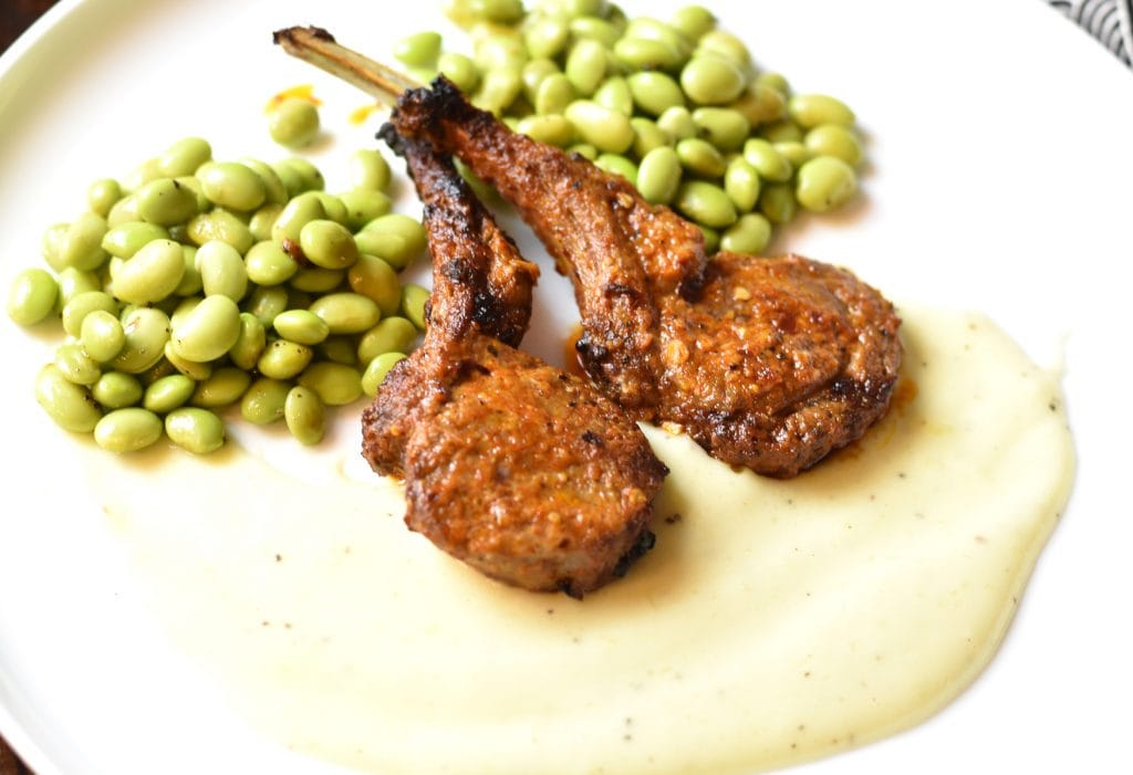 Grilled Lamb Chops with cauliflower Potato garlic sauce, #cooking #food #recipe #recipes #foodphotography #foodblogger #yummy #delicious #foodie