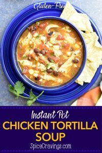 Instant Pot Chicken Tortilla Soup- pin it to pinterest