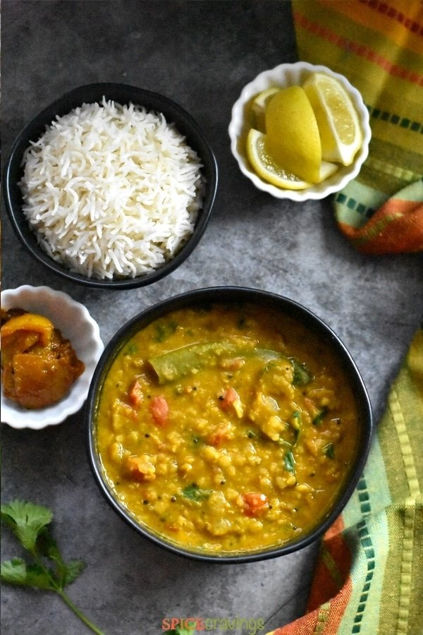 Instant Pot Dal Tadka Indian Dal Fry With Rice Spice Cravings
