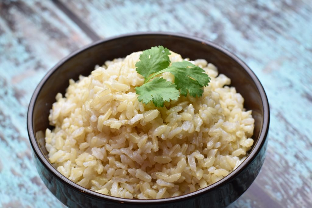 Instant Pot Brown Jasmine Rice. An easy recipe for fragrant and nutty brown jasmine rice-an excellent healthy alternative to white rice. Best with Thai Curries. By Spice Cravings. #food #foodie #foodblogger #delicious #recipe #instantpot #recipes #easyrecipe #cuisine #30minutemeal #instagood #foodphotography #tasty