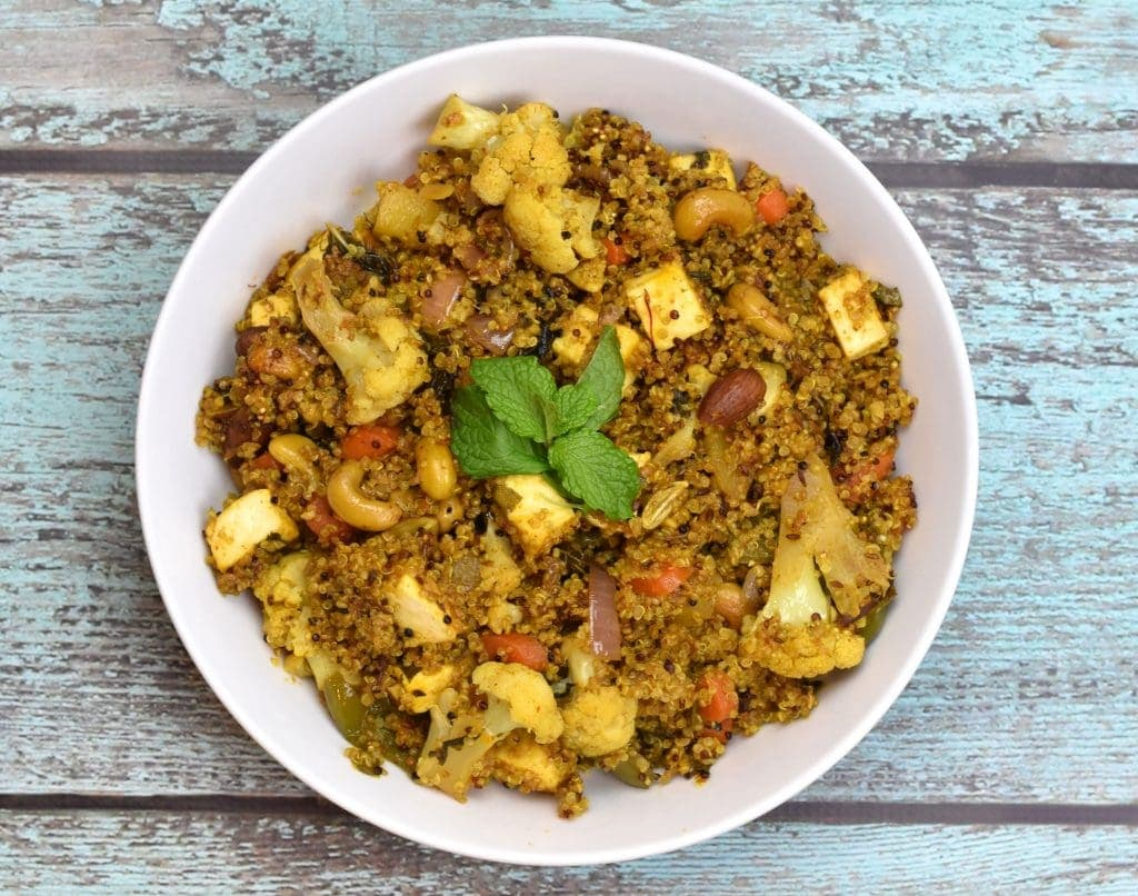 Quinoa Vegetable Biryani Pilaf In Instant Pot Spice Cravings Quick Amp Easy Global Recipes