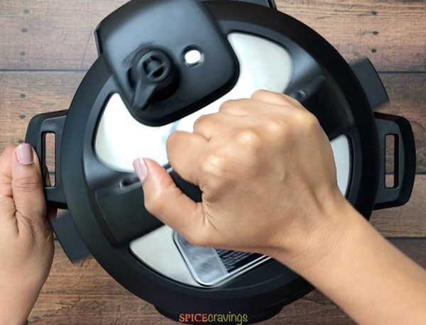 Opening the Instant Pot after releasing pressure