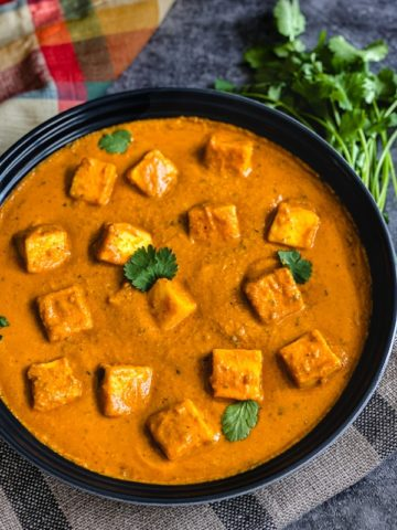 Paneer cubes simmered in a rich tomato and onion gravy, by Spice Cravings. #food #foodie #foodblogger #delicious #recipe #instantpot #recipes #easyrecipe #cuisine #30minutemeal #instagood #foodphotography #tasty #Indian