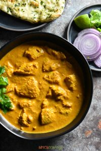 Close up of Butter Chicken made in Instant Pot