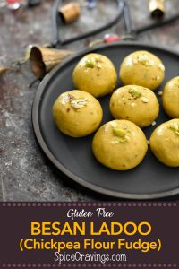 Pin for Besan Ladoo for saving to Pinterest