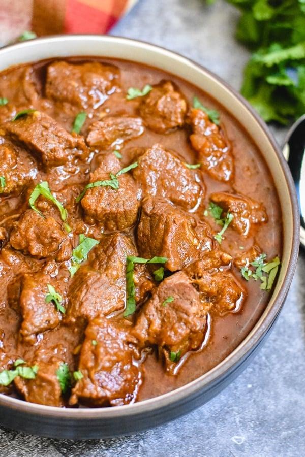 ethiopian beef stew recipe in brown bowl