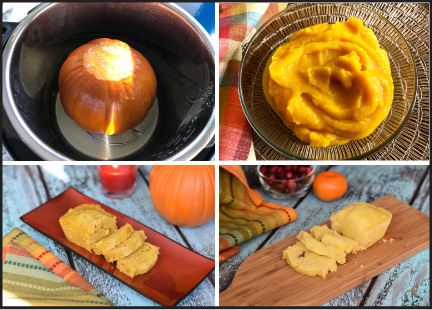Various uses of homemade pumpkin puree