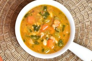 Minestrone Soup in Instant Pot by Spice Cravings. Minestrone Soup is an Italian soup, made with root vegetables, like onions, celery, carrots, stock, dried herbs, beans and tomatoes; often w/ rice or pasta. #food #foodie #foodblogger #delicious #recipe #instantpot #recipes #easyrecipe #cuisine #30minutemeal #instagood #foodphotography #tasty