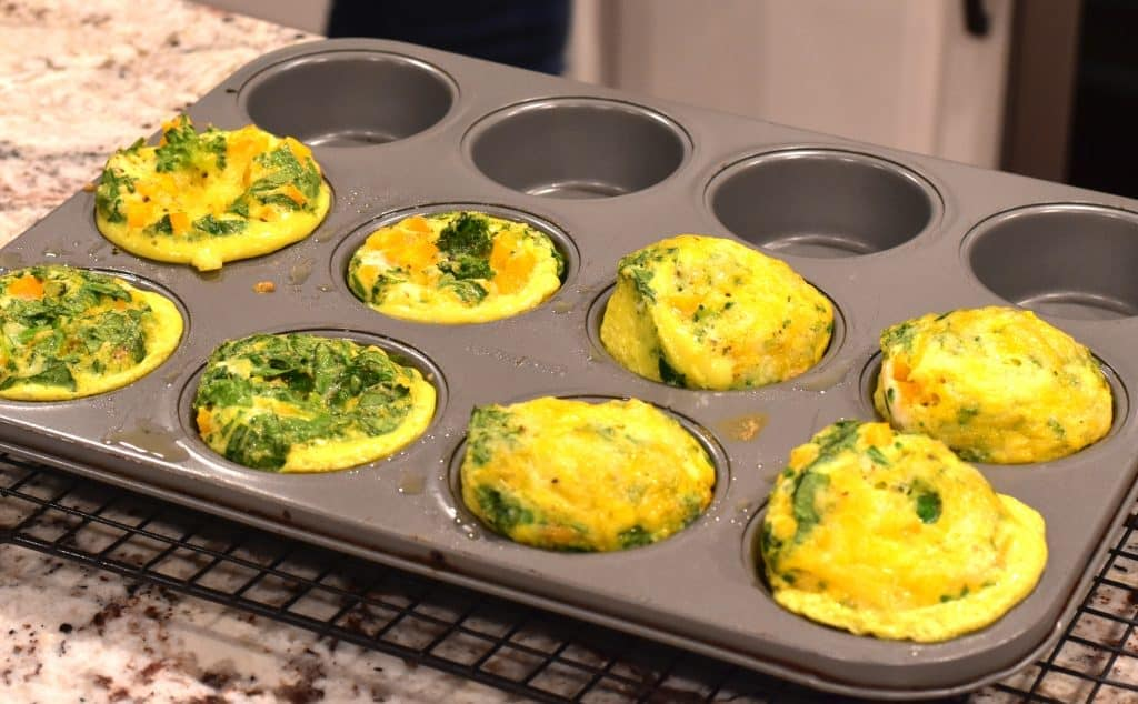 Oven Baked Egg Bites or Frittata Muffins by Spice Cravings. Instant Pot Egg Bites or Frittata Muffins are a bite of comfort early in the morning! They are warm, fluffy, flavorful and nutritious eggs bites that are shaped like muffins. 5 minutes of prep, 5 minutes of cooking. Cooking these is a 1-2-3 process! #food #foodie #foodblogger #delicious #recipe #instantpot #recipes #easyrecipe #cuisine #30minutemeal #instagood #foodphotography #tasty