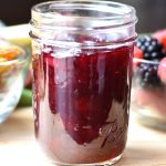 Cranberry sauce served in a mason jar