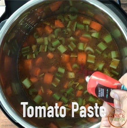 Adding tomato paste to the instant pot