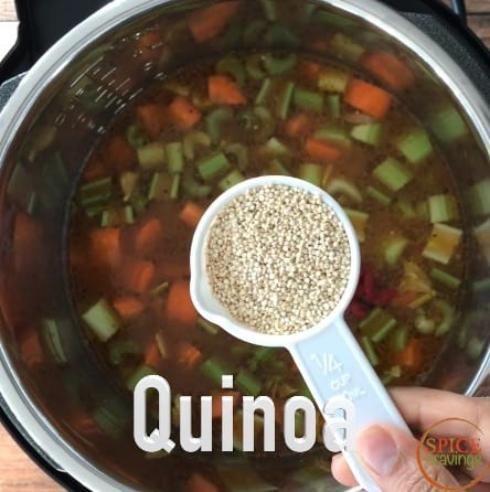 Adding quinoa to the Minestrone Soup to make it gluten free