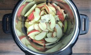 Cut apple slices in the Instant Pot