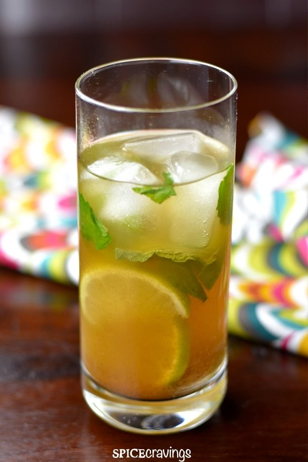 Jaljeera Mojito served with ice and mint leaves