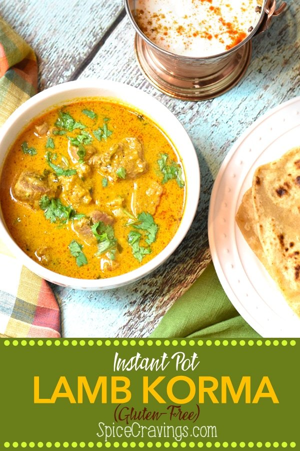 In this easy recipe for Lamb Korma, an Indian Mughlai delicacy, I braise the meat with aromatics in a creamy coconut sauce, season it with toasted garam masala, and pressure cook it to a melt-in-your-mouth perfection.#spicecravings #meat #curry #glutenfree #instantpot #instantpotrecipes #wprecipemaker #india #indian #food #foodie #foodblogger #delicious #recipe #easyrecipe  #instagood #foodphotography #tasty #f52grams #feedfeed
