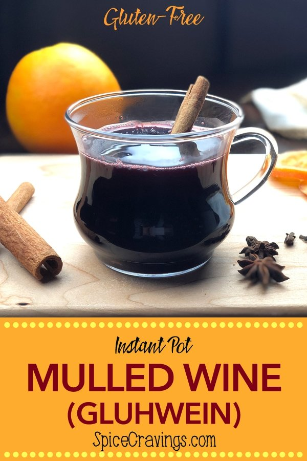 Instant Pot Mulled Wine pin for Pinterest