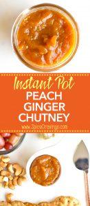 Peach Ginger Chutney in a mason jar