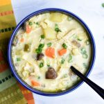 Gluten-Free Corn and Chicken Chowder in instant pot by Spice Cravings. Creamy, sweet, hearty and pure deliciousness in a bowl, that's how I would describe chowder. Enjoy in the summer or the winter by the fireplace on a cold winter night with a bowl of this Gluten-FreeCorn & Chicken Chowder! This recipe reduces the carbs and goes gluten-free by removing the roux. #food #foodie #foodblogger #delicious #recipe #instantpot #recipes #easyrecipe #cuisine #30minutemeal #instagood #foodphotography #tasty