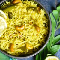 Indian flavored Instant Pot lemon rice