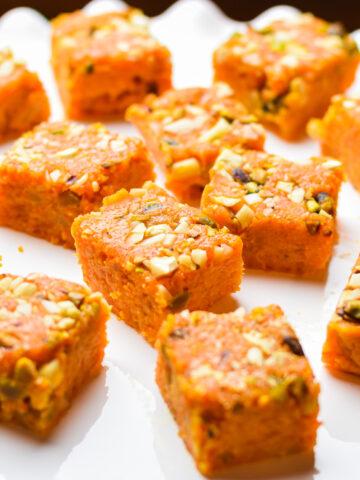 Instant Pot Carrot Burfi or Gajar Burfi or Fudge