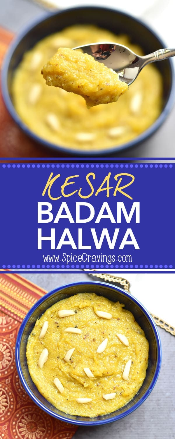 Kesar badam halwa, or saffron almond pudding, is the undisputed