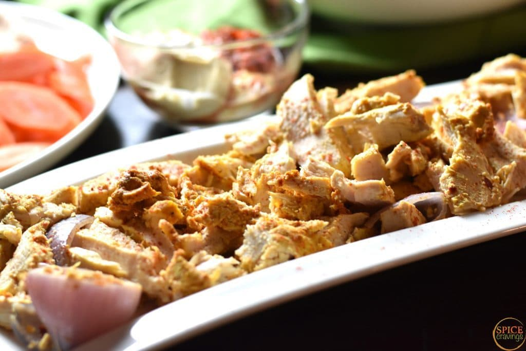 Chicken Shawarma - Side View