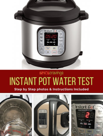 Simple step by step instructions and video showing how to do the initial water test in an Instant Pot.