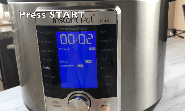 ULTRA- Press START. When the pressure builds up ... 0be3ce681