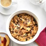 Cinnamon Raisin French Toast Casserole baked in Instant Pot