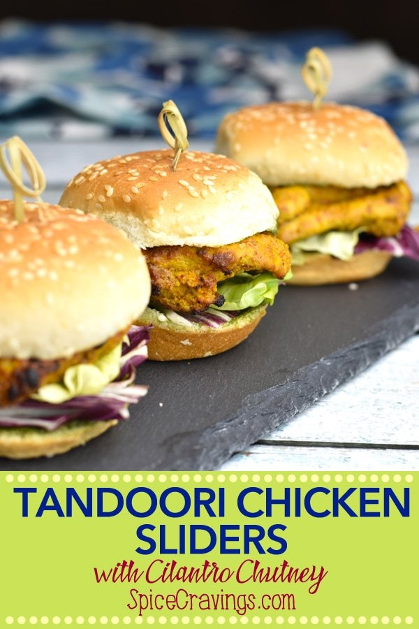 Pin for Tandoori Chicken Slider Recipe