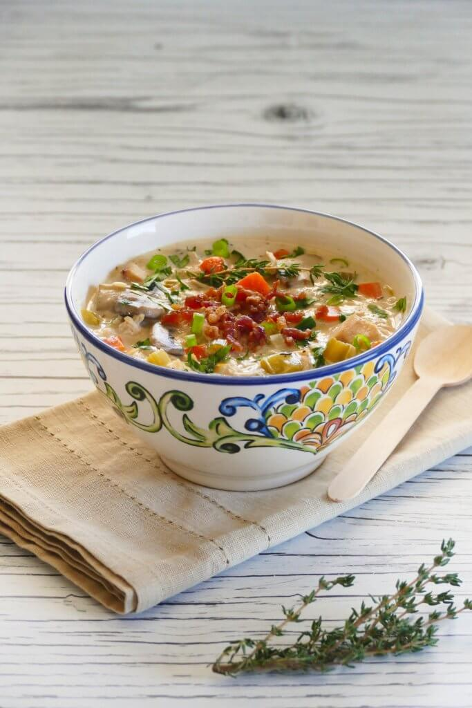 Cream of Chicken Soup made in Instant Pot