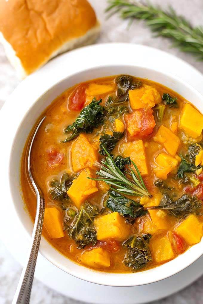 Instant Pot Sweet Potato Kale Soup