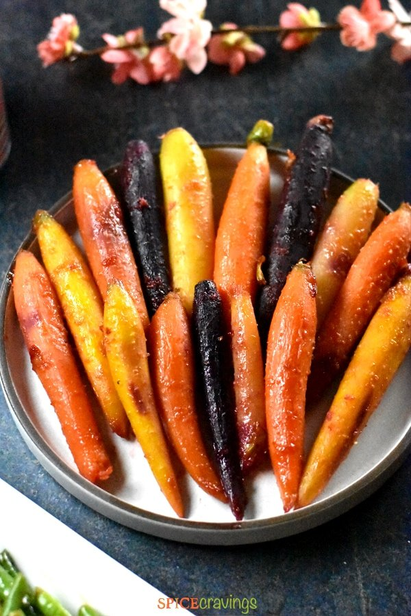 Pan roasted carrots and glazed with honey and citrus