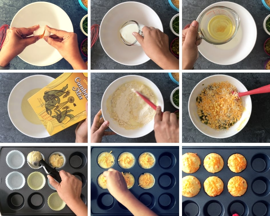 Step by Step instructions on how to make Jalapeno Cheddar Cornbread