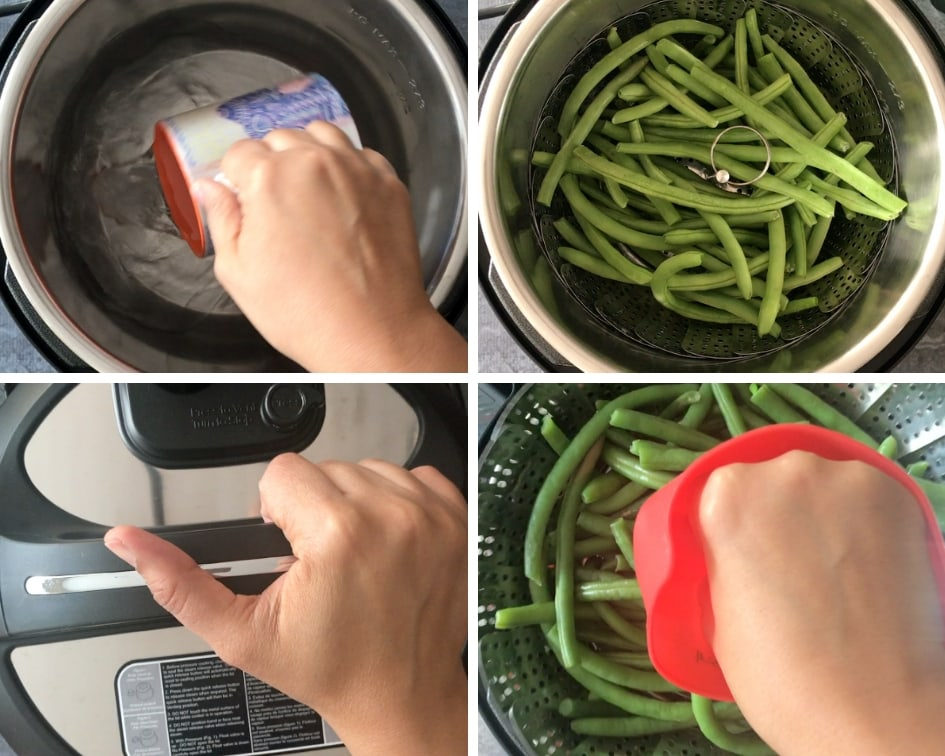 Step by step guide on how to cook green beans in Instant Pot
