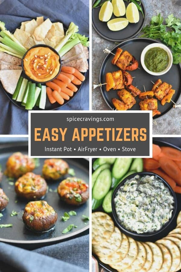 17 Best & Easy Vegetarian Appetizers, Side Dishes, & Drinks recipes for any holiday dinner, Christmas or Thanksgiving. They are quick to make & easy to double. #spicecravings #sides #drinks #appetizers #holidays #thanksgiving #recipes