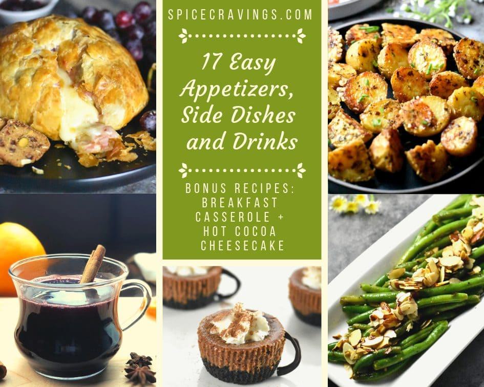 A collection of easy Vegetarian Appetizers, sides, drinks recipes