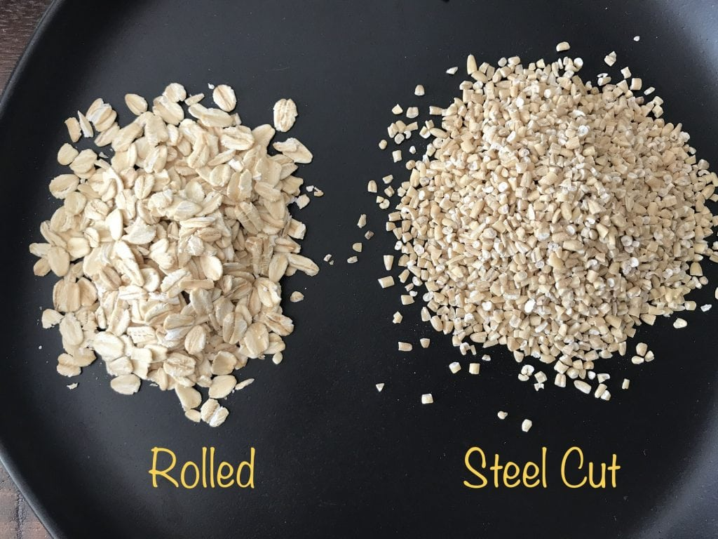 What is the difference between Steel cut oats and Rolled oats