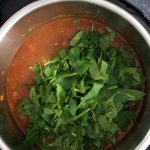 Adding spinach to moroccan chickpea soup in instant pot
