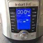 Pressure cooker running a 4 minute timer