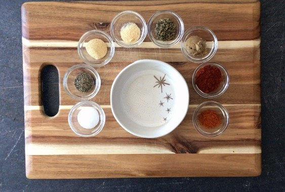 Spices needed to make Homemade Cajun Spice blend