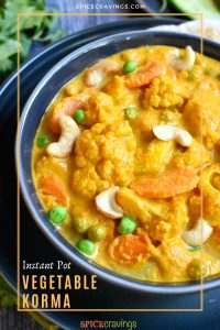 Vegetable Korma with cauliflower and carrots