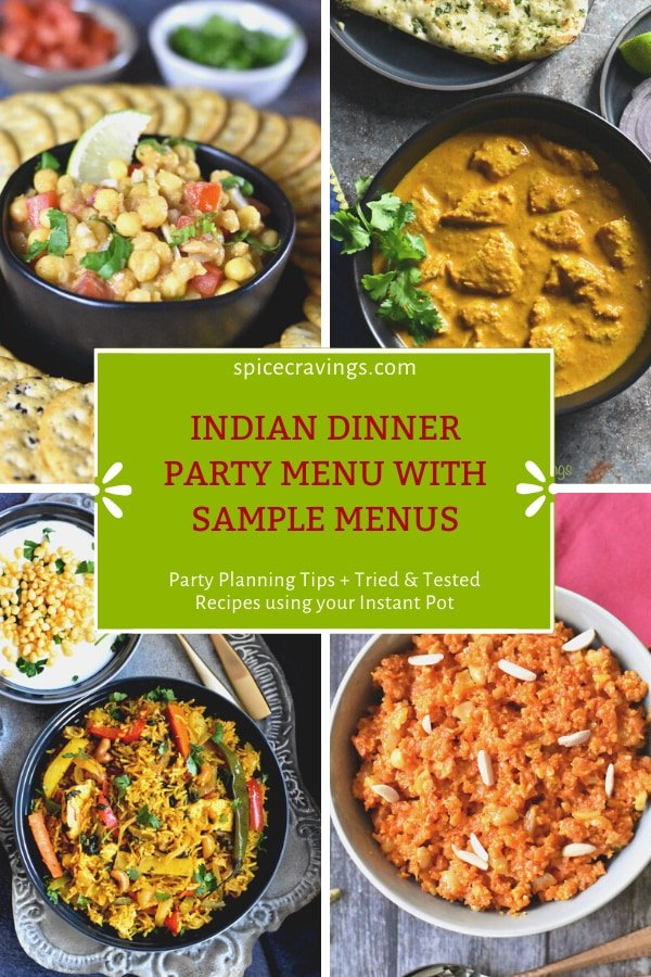 Assorted recipes for an Indian Dinner Party