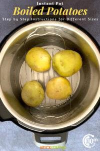 yukon golden potatoes on trivet in Instant Pot