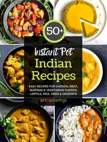 A collage of 6 out of 50 Instant Pot Indian Recipes