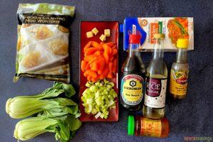 Ingredients for Wonton Soup