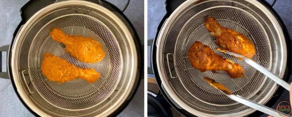 tandoori chicken legs in crisplid