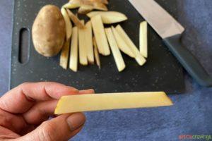 a medium thick cut potato fry
