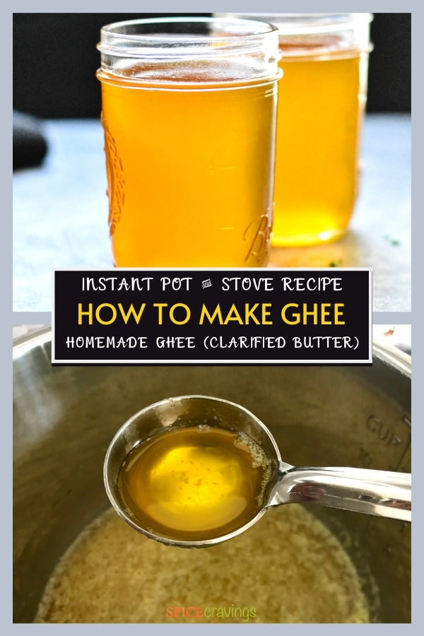 how to make ghee pinterest graphic