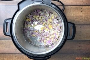 Sautéing onions, ginger and garlic in the instant pot